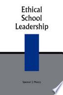Ethical School Leadership Book