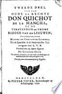 De Oude En Rechte Don Quichot De La Mancha Of De Verstandige En Vrome Ridder Van De Leeuwen