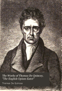 The Works of Thomas De Quincey,