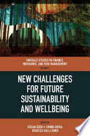 New Challenges for Future Sustainability and Wellbeing