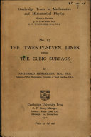 Pdf The Twenty Seven Lines Upon the Cubic Surface