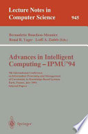 Advances in Intelligent Computing - IPMU '94