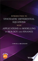 Introduction to Stochastic Differential Equations with Applications to Modelling in Biology and Finance Book