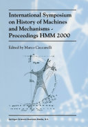 Pdf International Symposium on History of Machines and MechanismsProceedings HMM 2000 Telecharger