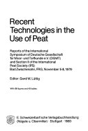 Recent Technologies in the Use of Peat