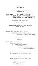 Duroc Jersey Swine Record
