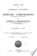 Certified Copy of Compiled Statement of Domestic Corporations Whose Charters Have Been Forfeited  and Foreign Corporations Whose Right to Do Business in This State Has Been Forfeited