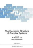 The Electronic Structure of Complex Systems