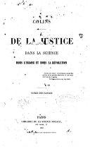 De la justice dans la science hors l'église et hors la révolution