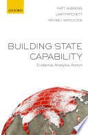 Cover image of Building state capability : evidence, analysis, action