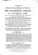 Catalogue of the Mathematical, Historical and Miscellaneous Portion of the Celebrated Library