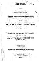 Pdf Journal of the ... of the ... House of Representatives of the Commonwealth of Pennsylvania