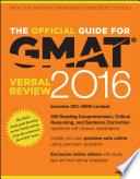 The Official Guide for GMAT Verbal Review 2016 with Online Question Bank and Exclusive Video Book
