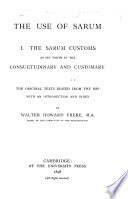 The Use of Sarum ...