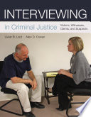 Interviewing in Criminal Justice Book