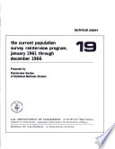 The Current Population Survey Reinterview Program January 1961 Through December 1966 Book PDF