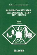 Acidification Research  Evaluation and Policy Applications