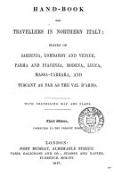 Hand-book for travellers in northern Italy [by sir F. Palgrave].