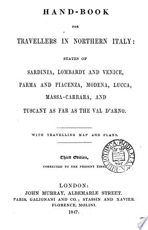 Read Online Hand-book for travellers in northern Italy [by sir F. Palgrave]. Full Book