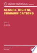 Secure Digital Communications Book