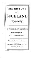 The History of Buckland  1779 1935