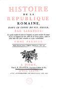Histoire de la république Romaine, dans le cours du VIIe siècle