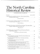 The North Carolina Historical Review