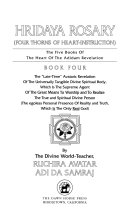 The Five Books of the Heart of the Adidam Revelation