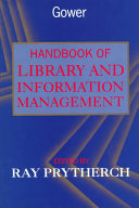 Gower Handbook of Library and Information Management