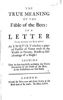 The True Meaning of the Fable of the Bees
