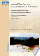 Integrated Water Resources Management In A River Basin Context Book PDF