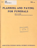 Planning and Paying for Funerals