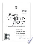 Putting Customers First  97 Book