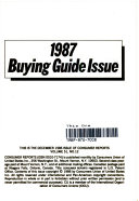 Consumer Reports 1987 Buying Guide Issue
