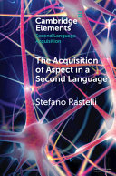 The acquisition of aspect in a second language
