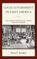 Local Government in Early America Pdf/ePub eBook