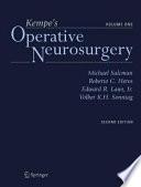 Kempe s Operative Neurosurgery  Volume One