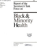 Report of the Secretary s Task Force on Black   Minority Health  Cardiovascular and cerebrovascular disease  2 v