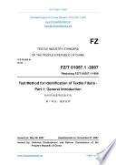 FZ T 01057 1 2007  Translated English of Chinese Standard   FZT 01057 1 2007  FZ T01057 1 2007  FZT01057 1 2007