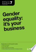Gender Equality It S Your Business