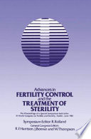 Advances in Fertility Control and the Treatment of Sterility Book