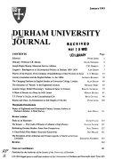 The Durham University Journal