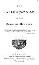 The Fable of Jotham: to the Borough-Hunters. [In Verse. By Richard Owen, Cambridge.]