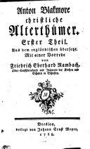 Christl. Alterthümer