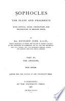 Sophocles  The Antigone  3d  ed  1900