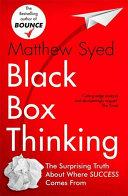 Pdf Black Box Thinking