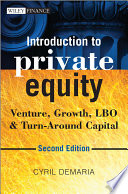 Introduction to Private Equity Book