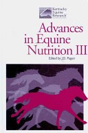Advances in Equine Nutrition III