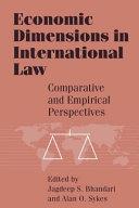 Economic Dimensions in International Law