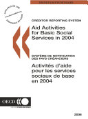 Pdf Creditor Reporting System on Aid Activities 2006 Aid Activities for Basic Social Services in 2004 Telecharger